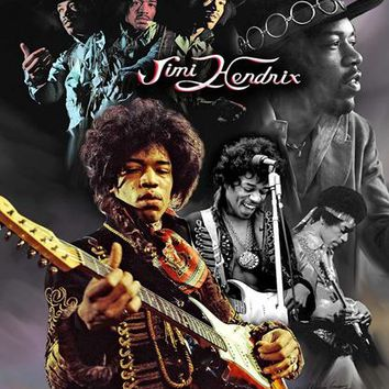 Jimi Hendrix Wishum Gregory (Mini) Art Print