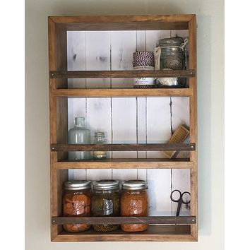 The Mansfield Cabinet No. 4 - Spice Rack / Kitchen Shelves