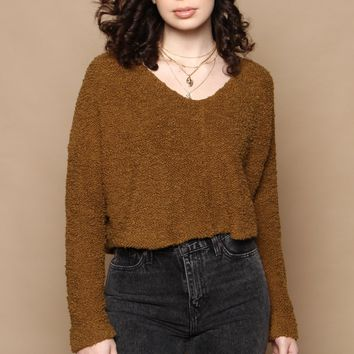 Free People Popcorn Pullover - Moss
