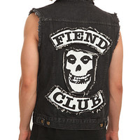 Misfits Fiend Club Denim Vest