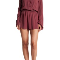 Love Stitch | Long Bell Sleeve Wrap Front Romper | Nordstrom Rack