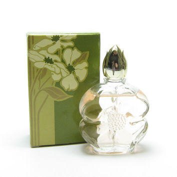 Avon Dogwood Cologne Vintage Demi-Decanter Apple Blossom Perfume Bottle