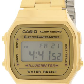 Casio Gold-Tone Stainless Steel Watch A168WG-9WDF