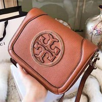 Tory Burch 2018 autumn and winter new small square bag wild wide shoulder strap handbag