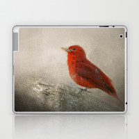 Song of the Summer Tanager 1 - Birds Laptop & iPad Skin by Jai Johnson