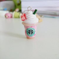Starbucks Frappuccino Clay Charm Strawberry or Mocha