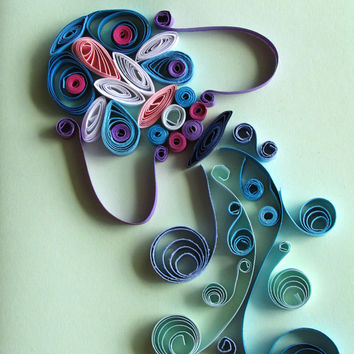 Aquarius Quilling Card, Zodiac Birthday Card, Zodiac Handmade Greeting Card Aquarius