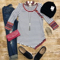 Sassy Stripe Tribal Top