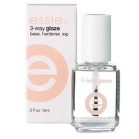 Essie 3-Way Glaze Sealer, Base & Topcoat .5 oz.