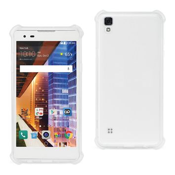 LG X Style (Tribute Hd) Bumper Case With Air Cushion Protection (Clear)