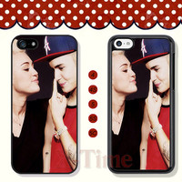 Miley Cyrus Justin Bieber, iPhone 5 case iPhone 5c case iPhone 5s case iPhone 4 case iPhone 4s case, Samsung Galaxy S3 \S4 Case --X50977