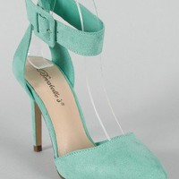 Breckelle Mavis-03 Pointy Toe Ankle Strap Pump