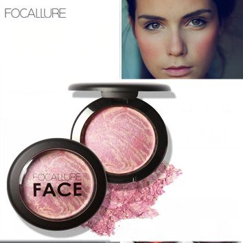 FOCALLURE Make Up Blushes Face Bronzer Blushes Powder Cosmetic Natural Base Makeup Highlighter Face Contour Blush Maquiagem
