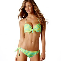 Brooke Pushup Striped Bikini Top | American Eagle Outfitters