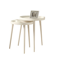 White 2Pcs Nesting Table Set