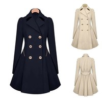 Women Dress Coat Fashion Euramerican Style of Trench Coat Jacket
