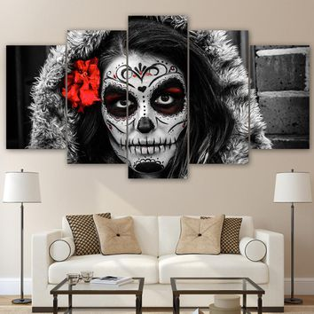 Day of the Dead 5 piece Canvas