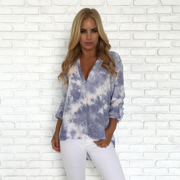 Crash Into You Tie Dye Blouse