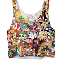 All Over Print Totally 90s Crop Top