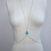 Turquoise Chunk Body Chain
