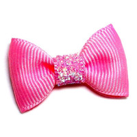 Precious Top Knot Bow — Pink