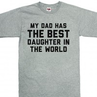Best daughter-Unisex Dark Ash T-Shirt