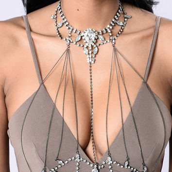 Think You Love Me Body Chain - Gunmetal