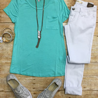 Basic Loose Pocket Tee