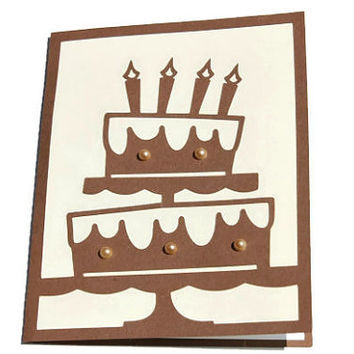 Birthday Cake Card- Unisex