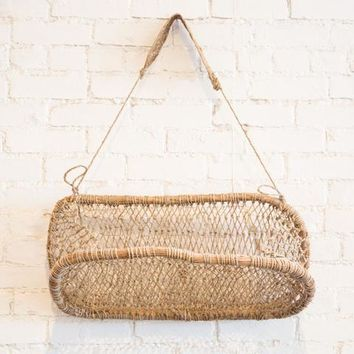 Handmade Hanging Wall Basket at General Store
