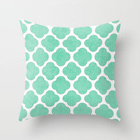 mint clover Throw Pillow by her art