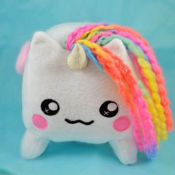 Bruce, the fluffy unicorn BIG plush toy , pony loaf cube horse rainbow dash kawaii cute fluffy plushie
