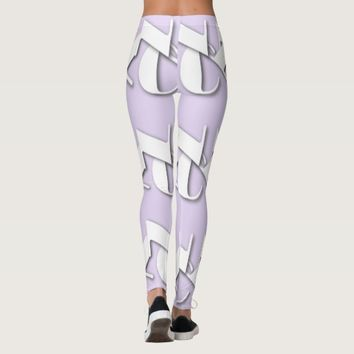 WHITE NYC LOGO LIGHT LAVENDER LEGGINGS HAVIC ACD