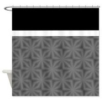 Black And Grey Flower Pattern Shower Curtains> Shower Curtains> We Tees You