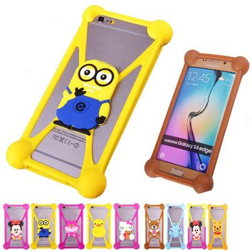 For Philips S309 S301 3d Cartoon Case Minions Silicone Cell Phone Cases For Philips S309 S301 Anti-knock Case Cover Accessory