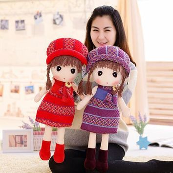 60cm HWD The fairy tale and girl doll little red riding hood Plush toy dolls children's birthday Christmas present