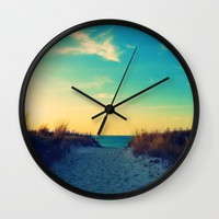 Walk in Love Wall Clock by RDelean