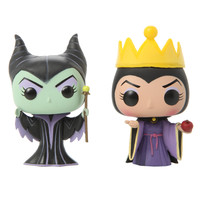 Disney Maleficent & Evil Queen Pop! Minis Vinyl Figures