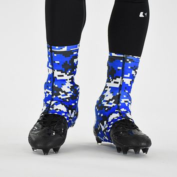 Digital camo Blue Black White Spats / Cleat Covers