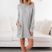 Sunday Breeze Basic Dress (Heather Grey)