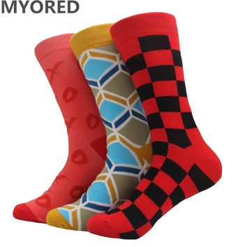 colorful combed cotton socks