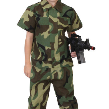 Kid's Camouflage Soldier Costume