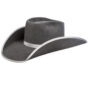 Rodeo King 7X Steel Open Crown Steel Bound Edge Felt Cowboy Hat
