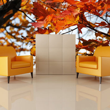 Wall Mural Decal Sticker Autumn Fall Leaves #MMartin105