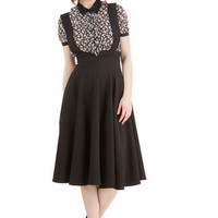 Scholastic Long Jumper Any Way You Walk Skirt in Black by ModCloth
