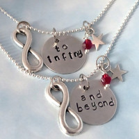 SALE - To Infinity and Beyond - Friendship Necklace Set - BFF - Gift- Jewelry - Best Friends