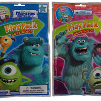 Set 5 Disney Pixar Monsters Inc University Play Packs Grab & Go Coloring Crayons