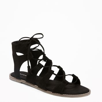 Lace-Up Gladiator Sandals for Women |old-navy