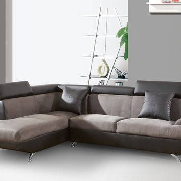 Beverly Fine Furniture Xena Left Chaise 2 Piece Sectional Sofa (Set of 2)