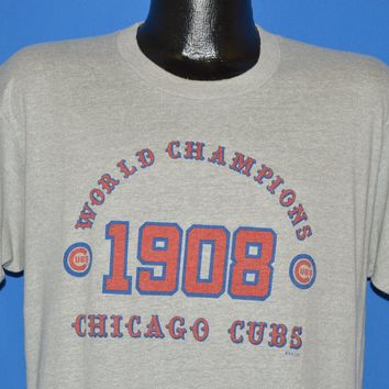 80s Chicago Cubs 1908 World Series Champions t-shirt Large
